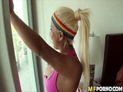 Super movie category exotic (322 sec). Huge tit sporty latina blonde 2.