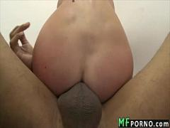 Genial movie category milf (322 sec). Huge black dick fucks skinny white girl Angela Attison 5.